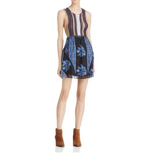 Free People Katie Crochet-Bodice Mini Dress
